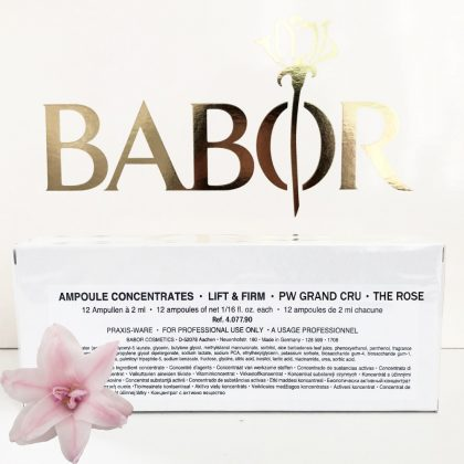 BABOR AMPOULE CONCENTRATES Lift and Firm Grand Cru - The Rose – Wirkstoffkonzentrat. Kabinengröße 24 x 2 ml.